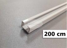 1 soros alumínium mennyezeti sín tartozékokkal 200 cm