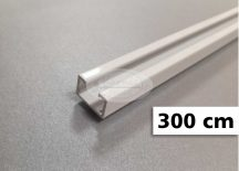 1 soros alumínium mennyezeti sín tartozékokkal 300 cm