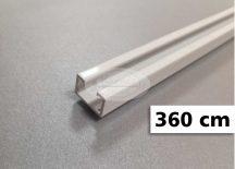 1 soros alumínium mennyezeti sín tartozékokkal 360 cm
