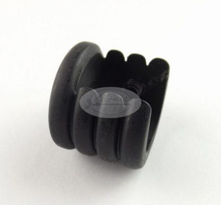 Fekete oldalfali tartó 16 mm-es karnishoz - Karnis Stúdió webáruház