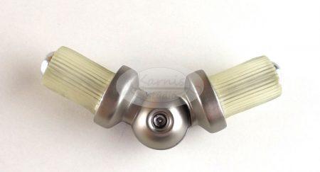 Saroktoldó elem 16 mm-es nikkel-matt karnisrúdhoz  - Karnis Stúdió webáruház