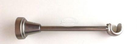 Nikkel-matt szimpla karnistartó konzol 16 mm-es karnisrúdhoz