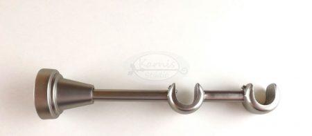 Nikkel-matt dupla karnistartó konzol 16 mm-es karnisrúdhoz