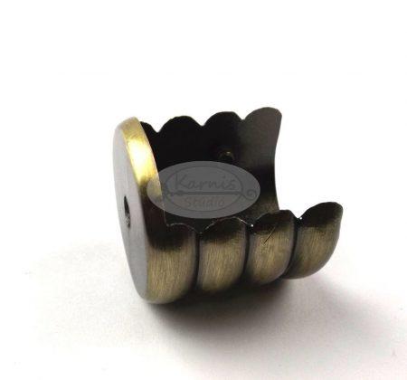 Óarany színű oldalfali tartó 25 mm-es karnisrúdhoz