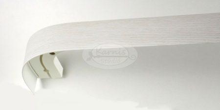 1 soros mennyezeti sín íves előlappal és tartozékcsomaggal - fehér kőris - Karnis Stúdió