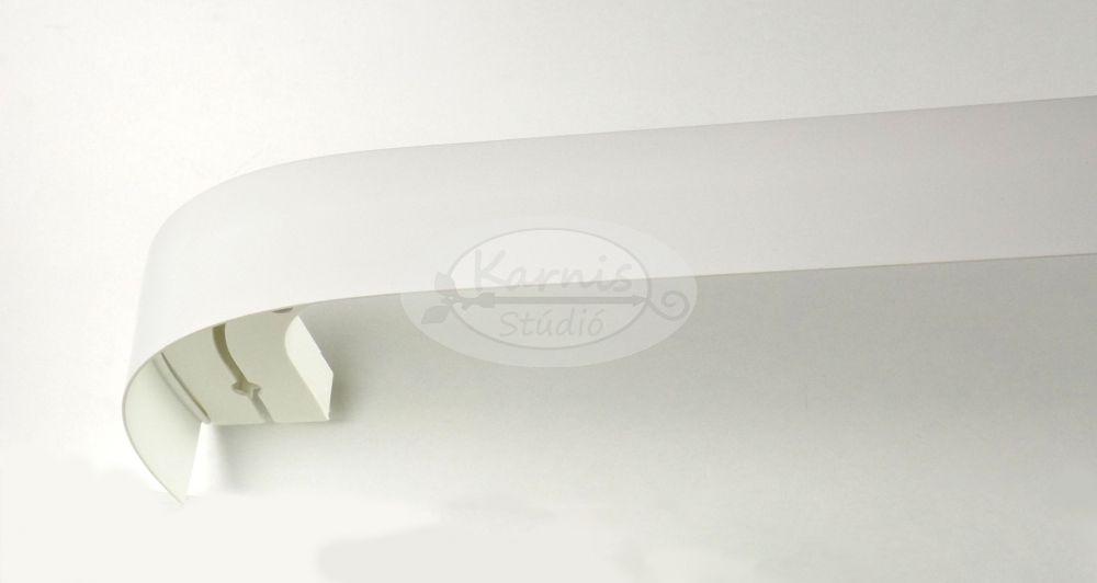 9a908d35c 2 soros mennyezeti sín íves előlappal és tartozékcsomaggal - fehér színű -  Karnis Stúdió