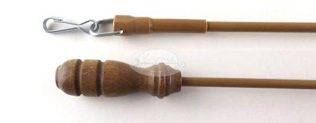 Függönyelhúzó pálca - fém-fa anyagból világos tölgy színben www.karnisstudio.hu