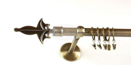 Linz óarany színű  1 rudas fém karnis szett - www.karnisstudio.hu