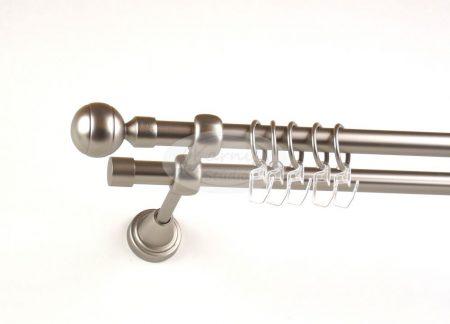 New Orleans nikkel-matt 2 rudas fém karnis szett - www.karnisstudio.hu