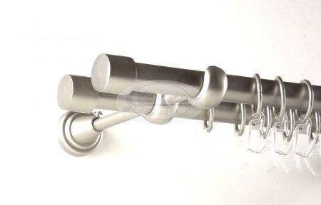 Reim nikkel-matt 2 rudas fém függönykarnis szett - Karnis Stúdió webáruház