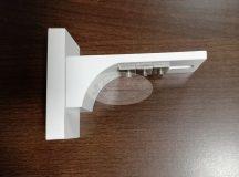 Vario rövid fali tartókonzol fehér színű (8 cm)