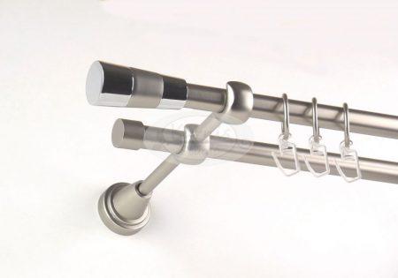 Virginia nikkel-matt 2 rudas fém karnis szett