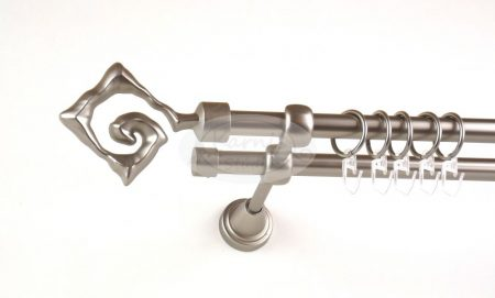Washington nikkel-matt 2 rudas fém karnis szett - www.karnisstudio.hu