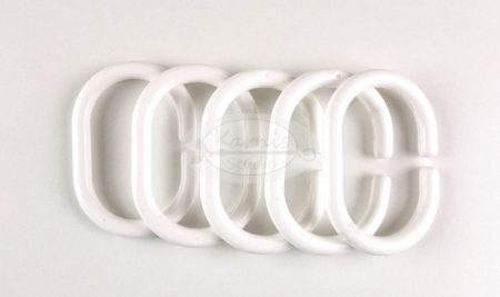 Zuhanyfüggöny karika C fehér 10 db/cs.
