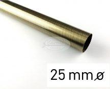 Óarany színű fém karnisrúd 25 mm átmérőjű