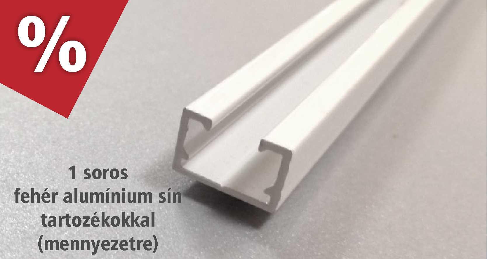 1 soros fehér alumínium függönysín bevezető akcióban - www.karnisstudio.hu