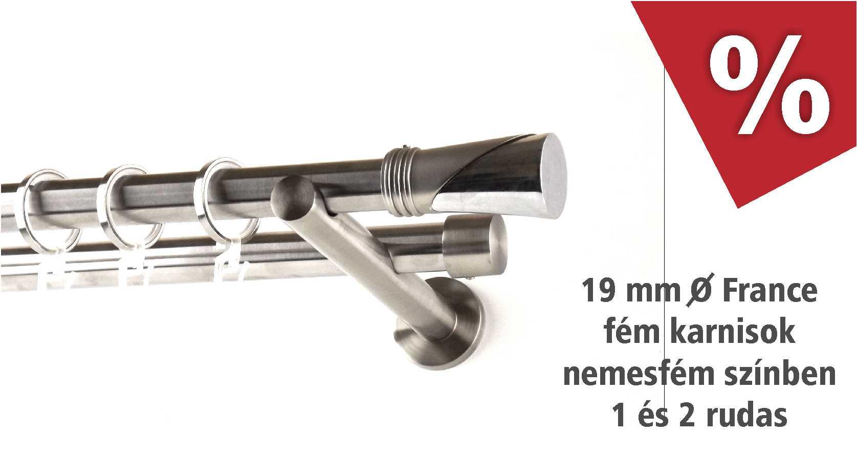France Premium nemesfém színű fém karnis szettek akciós áron a www.karnisstudio.hu webáruházban