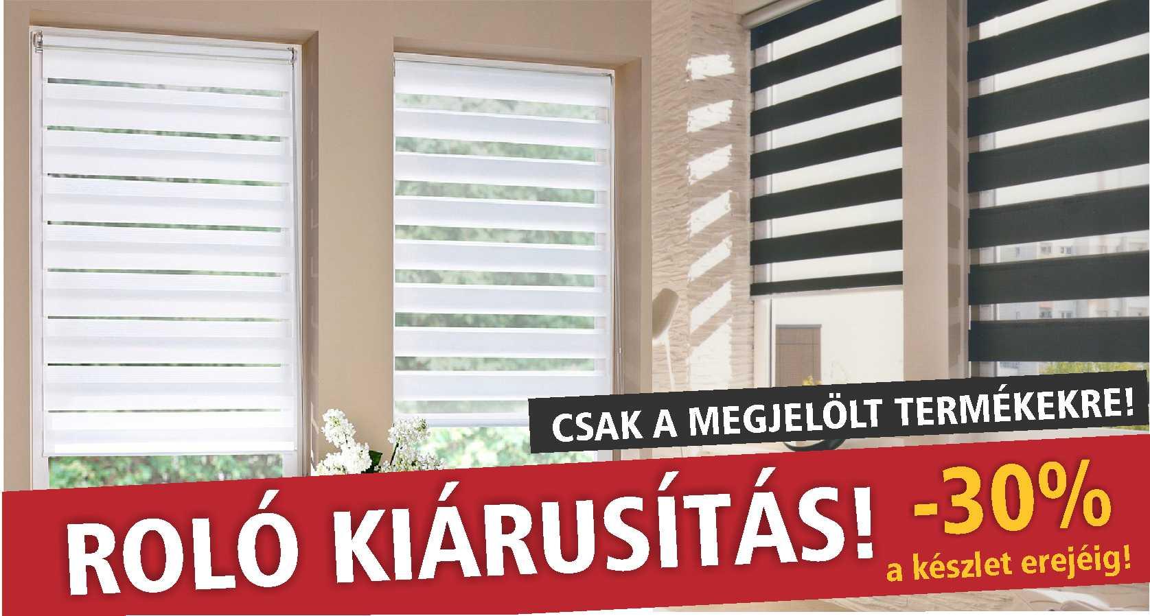 Roló kiárusítás - www.karnisstudio.hu