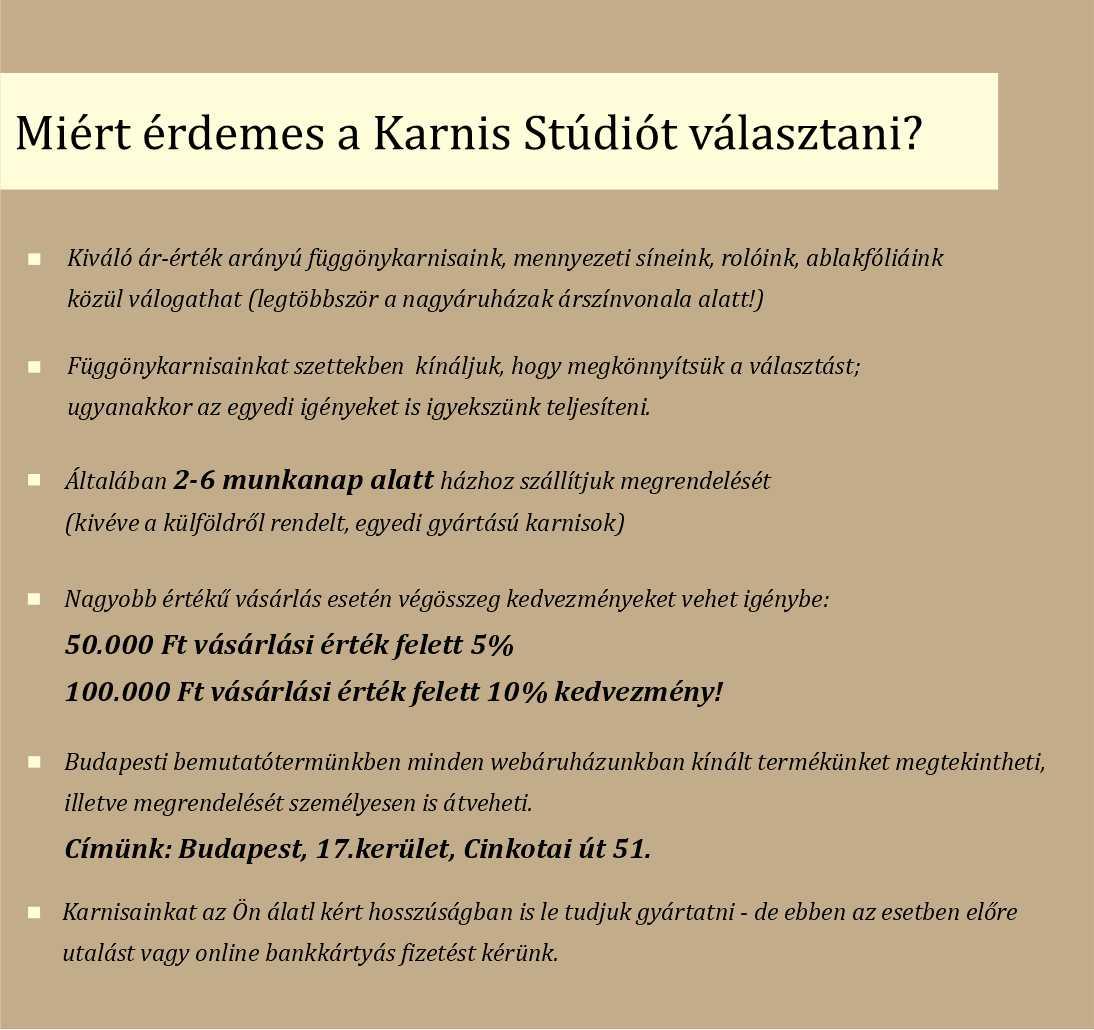 Miért a Karnis Stúdiót válassza? - Rólunk