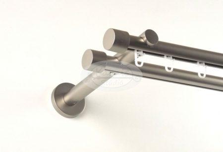 Alfa (Hellas) belsősínes 2 rudas nikkel-matt színű fém karnis szett