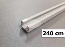 1 soros alumínium mennyezeti sín tartozékokkal 240 cm