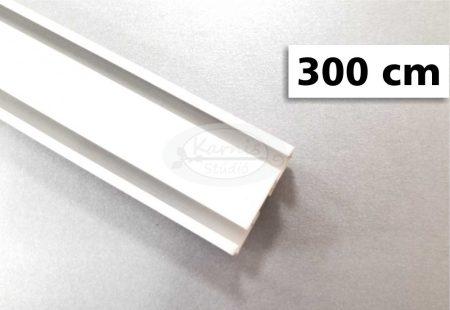 2 soros alumínium mennyezeti sín tartozékokkal 300 cm