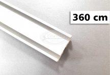 2 soros alumínium mennyezeti sín tartozékokkal 360 - 400 cm