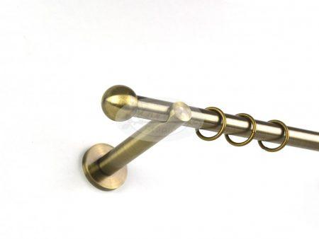 Béta óarany színű 1 rudas fém karnis szett 19 mm