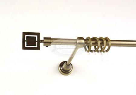 Chicago óarany 1 rudas fém karnis szett több méretben - www.karnisstudio.hu