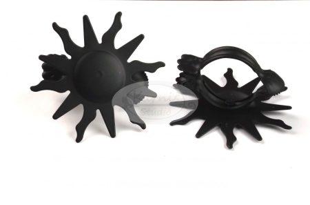 Dekorcsipesz (függönyösszekötő) - fekete színű Nap (2 db/cs.)