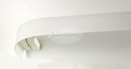 2 soros mennyezeti sín íves előlappal és tartozékcsomaggal - fehér színű - Karnis Stúdió