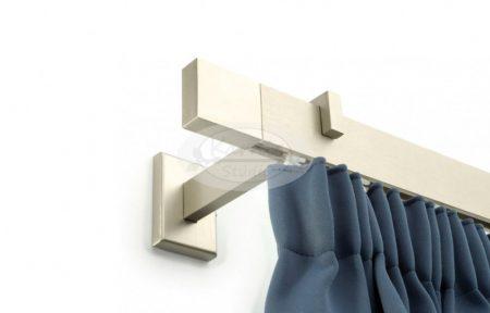 Design profilkarnis 1 sínes matt ezüst Square végzáróval 300 cm felett