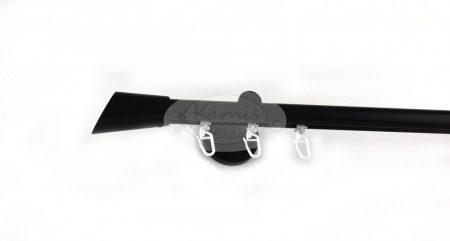 Fekete színű belsősínes 1 rudas fém karnis szett ferdén vágott véggel