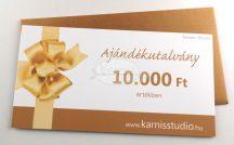 Karnis Stúdió ajándékutalvány - 10.000 Ft értékben