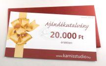 Karnis Stúdió ajándékutalvány - 20.000 Ft értékben