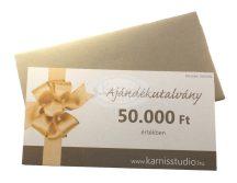 Karnis Stúdió ajándékutalvány - 50.000 Ft értékben