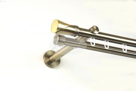 Kappa (Hellas) belsősínes 2 rudas óarany színű fém karnis szett