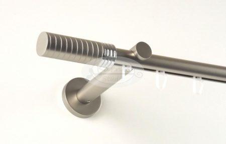 Kavála (Hellas) belsősínes 1 rudas nikkel-matt színű fém karnis szett