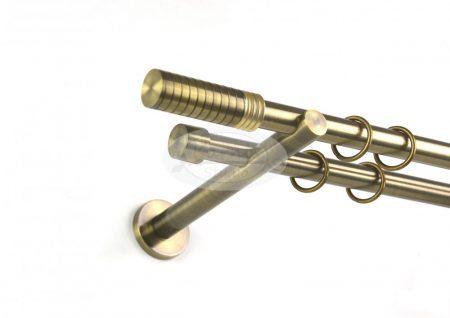 Kavála óarany színű 2 rudas fém karnis szett 19 mm