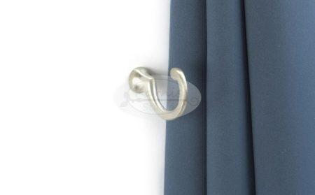 Függönykikötő kampó matt króm színű (43 mm) 2 db/cs.
