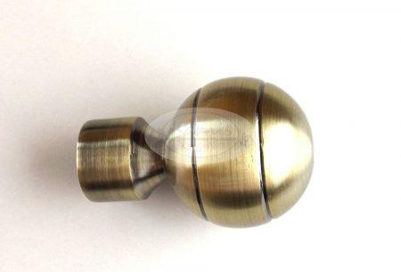 New Orleans óarany karnis végzáró 16 mm-es karnisrúdra 2 db/cs.