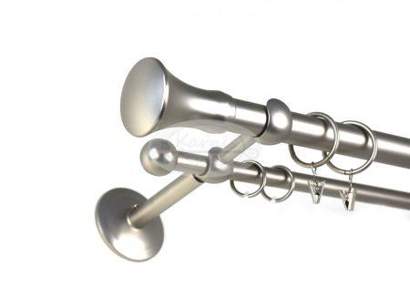 Nickelsdorf nikkel-matt 2 rudas fém karnis szett - 25 mm