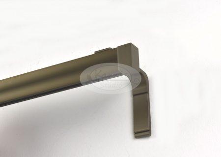Novum matt-bronz színű 1 sínes alumínium profilkarnis 3 méter felett