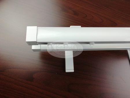 Novum fehér színű 2 sínes alumínium profilkarnis 300 cm felett