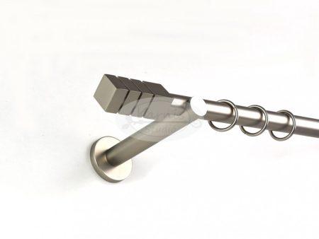 Protos nikkel-matt színű 1 rudas fém karnis szett 19 mm