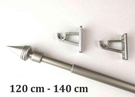 Reno kihúzható fém vitrázs rúd nikkel-matt színben kúp végződéssel - www.karnisstudio.hu
