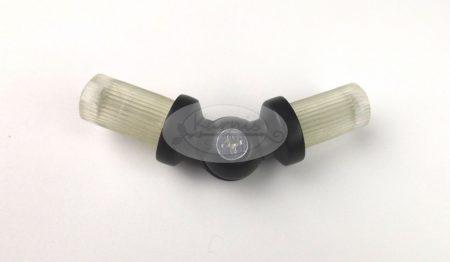 Saroktoldó elem 16 mm átmérőjű fekete színű karnisrúdhoz