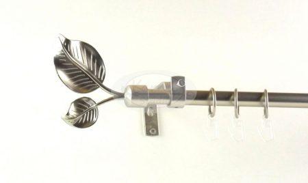 Szellő nikkel-matt 1 rudas fém függönykarnis szett