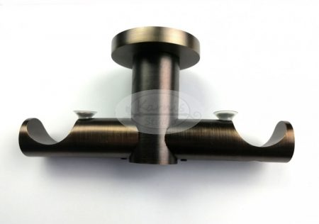 Bronz színű 2 rudas mennyezeti karnis tartó 25 mm-es karnisrúdhoz
