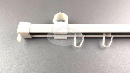 Aluminium U-sín (másodsín, függönysín) - fehér